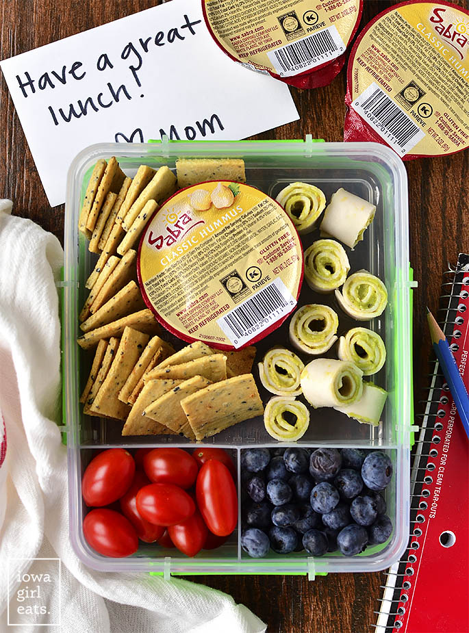 4 Healthy Lunch Box Ideas for your school aged child, or yourself! Easy, gluten-free, and dairy-free, too. | iowagirleats.com