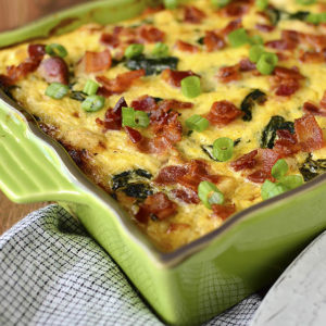 Chicken Bacon Ranch Spaghetti Squash Casserole