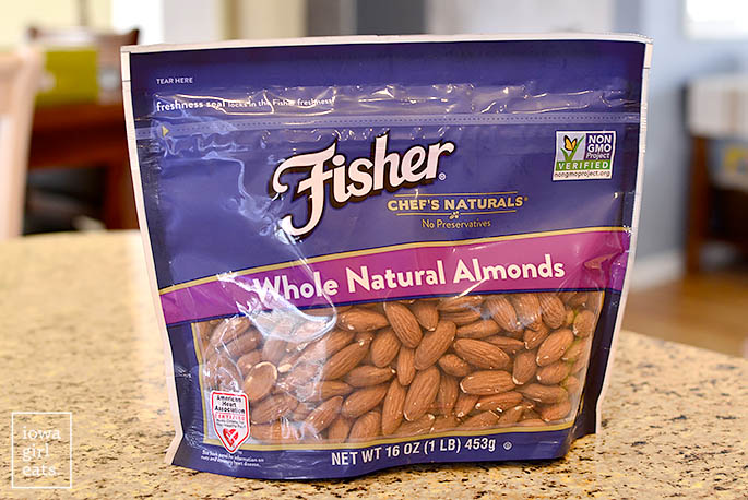 Bag of Fisher Nuts Whole Natural Almonds