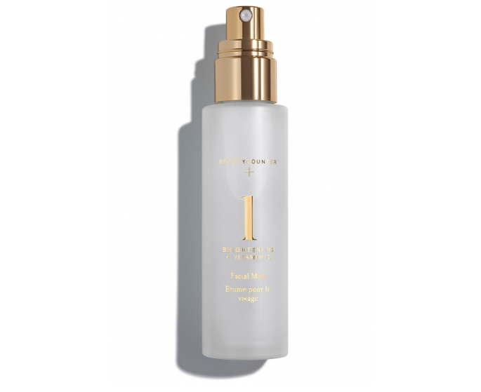 Bottle of Beautycounter Brightening Facial Mist