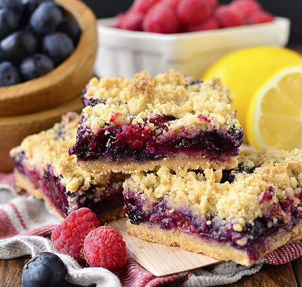 Featured image of Triple Berry Crumb Bars