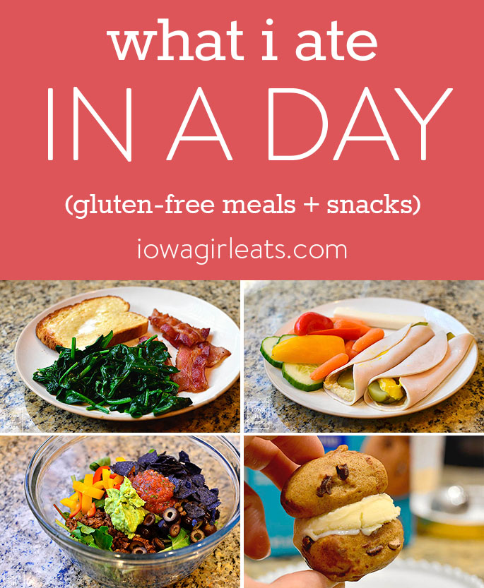 Images of gluten-free meals and snacks.