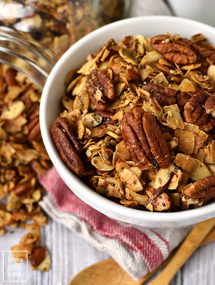 Bowl of The Best Grain Free Granola
