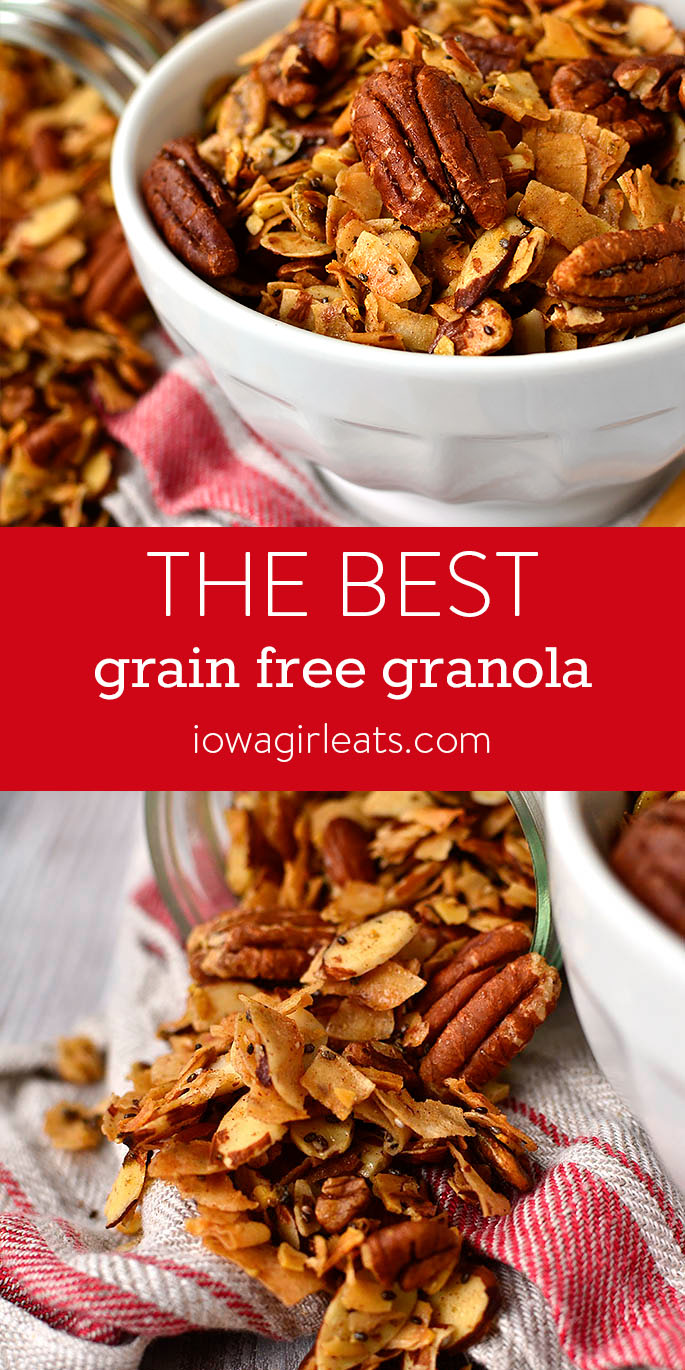 Photo collage of The Best Grain Free Granola