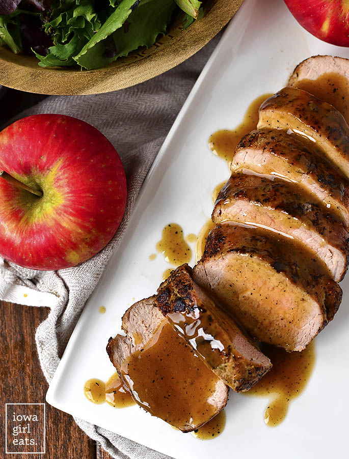 Overhead photo of Maple-Dijon-Cider Pork Tenderloin