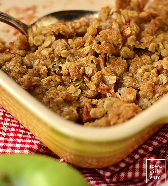 Scoop of Classic Apple Crisp
