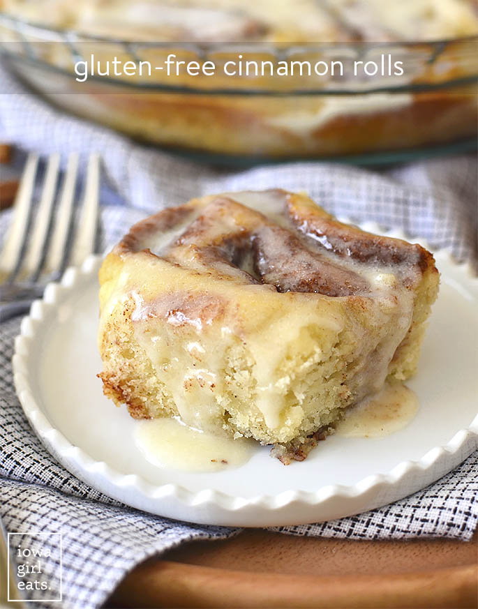 Photo of Gluten-Free Cinnamon Rolls on a plate