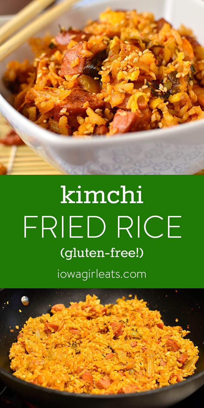 Photo collage of Healthier Kimchi Fried Rice