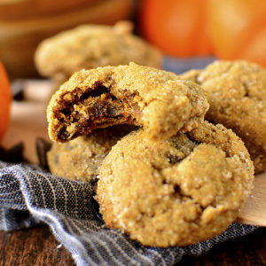 Soft Batch Pumpkin Gingersnap Chocolate Chip Cookies (GF) + 1 Year Supply Chocolate Giveaway!
