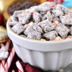Chocolate-Peppermint Puppy Chow
