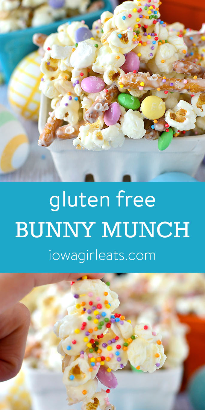 Photo collage of Gluten Free Bunny Munch