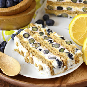 Lemon-Blueberry Icebox Cake (GF)
