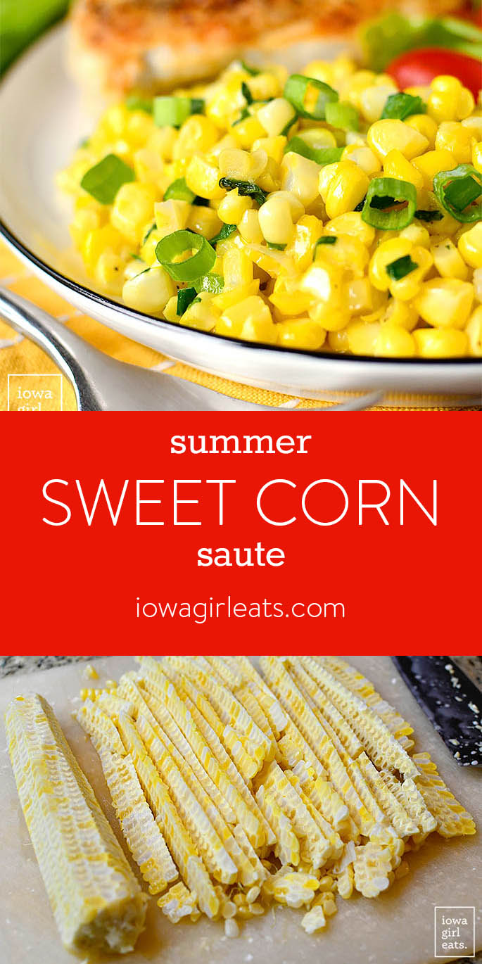Photo collage of Summer Sweet Corn Saute