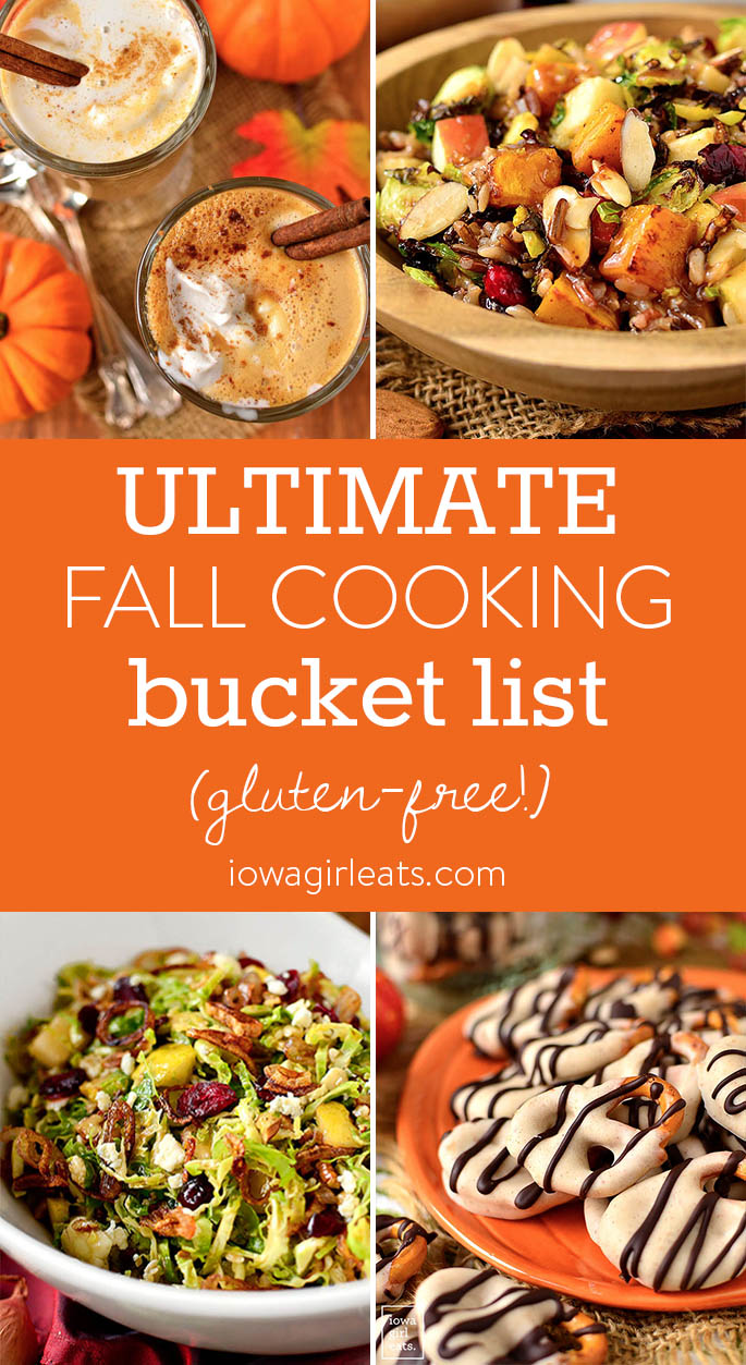 Photo collage of Ultimate Fall Cooking Bucket List