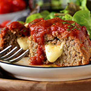 Stuffed Italian Meatball Mini Meatloaves
