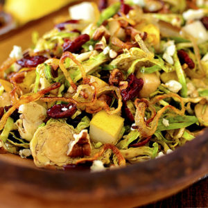 Fall Shredded Brussels Sprouts Salad (Video)