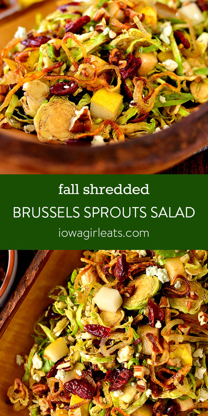 Photo collage of Fall Shredded Brussels Sprouts Salad
