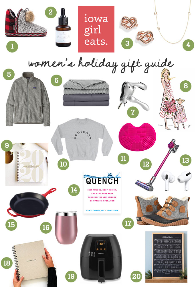 Photo collage of 2019 women's holiday gift guide