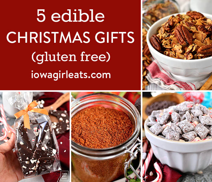 Photo collage of Edible Christmas Gifts