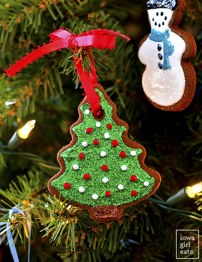 Easy Cinnamon Ornaments christmas tree cut out