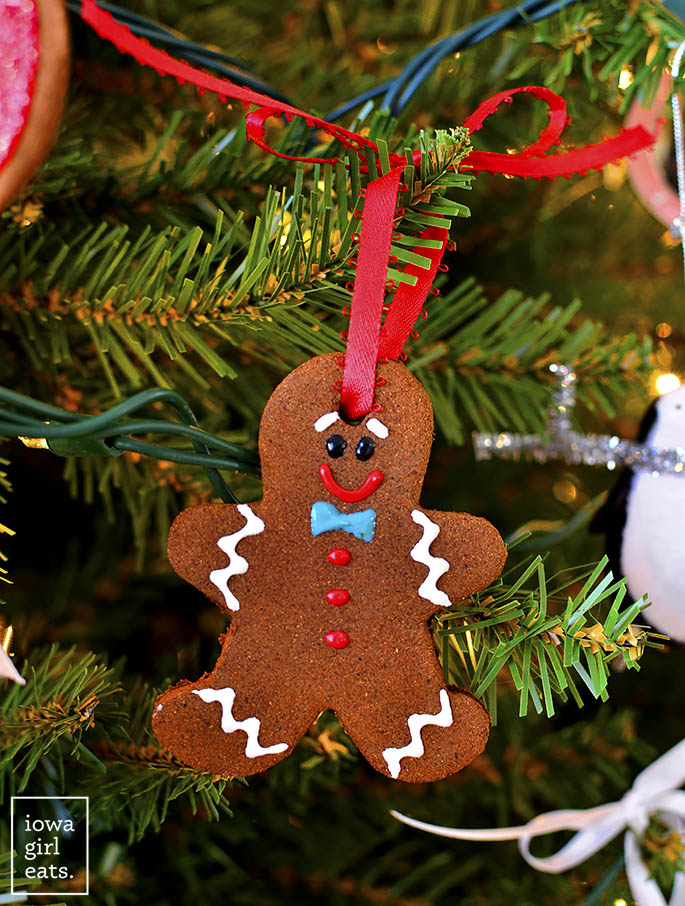 Easy Cinnamon Ornaments gingerbread man cut out