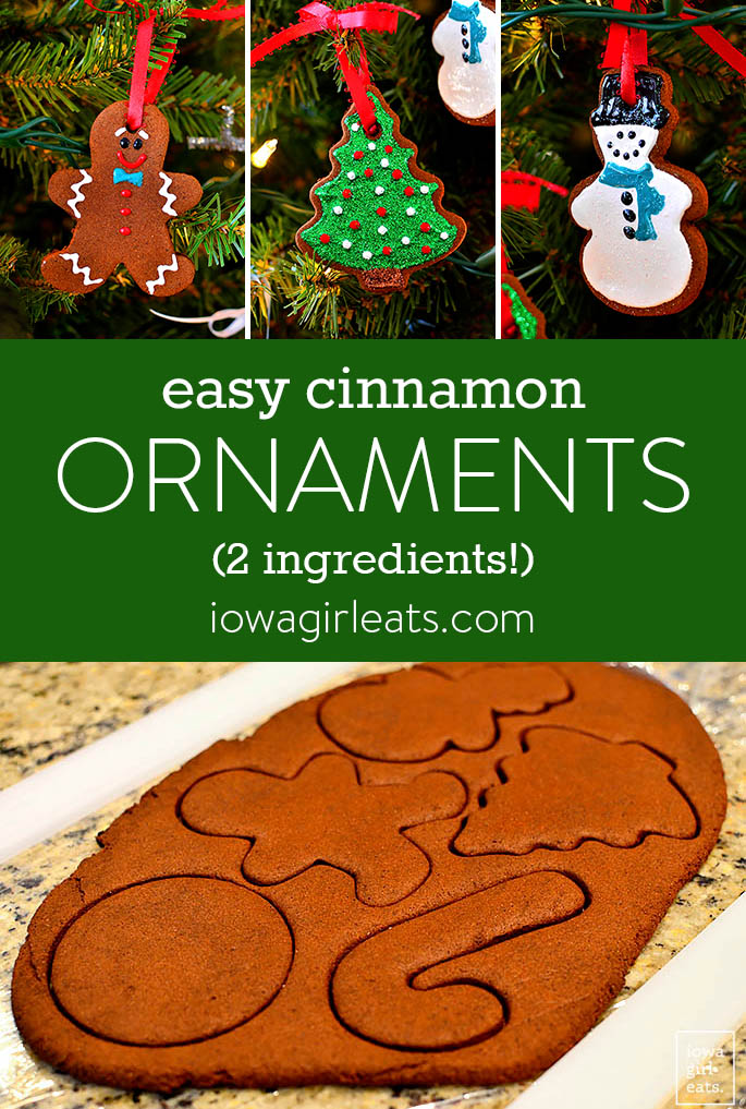 Photo collage of Easy Cinnamon Ornaments