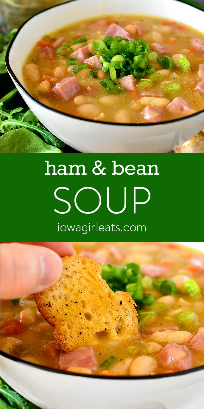 Photo collage of Ham and Bean Soup