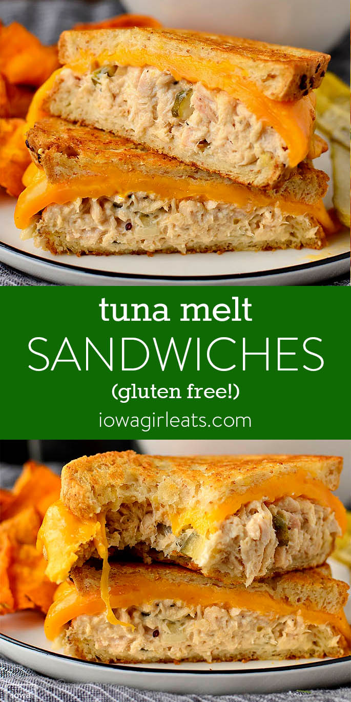 Photo collage of Tuna Melt Sandwiches