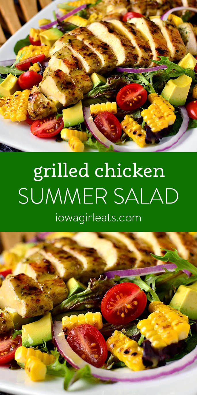 Photo collage of Grilled Chicken Salad