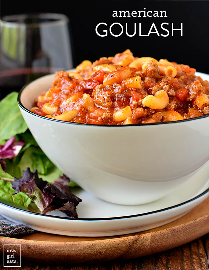 Bowl of American style goulash