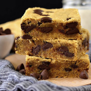 Chocolate Peanut Butter Blondies