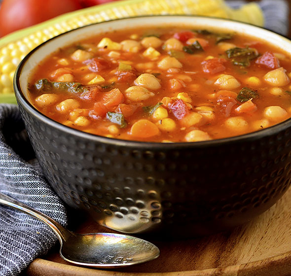 featured image of summer chickpea stew