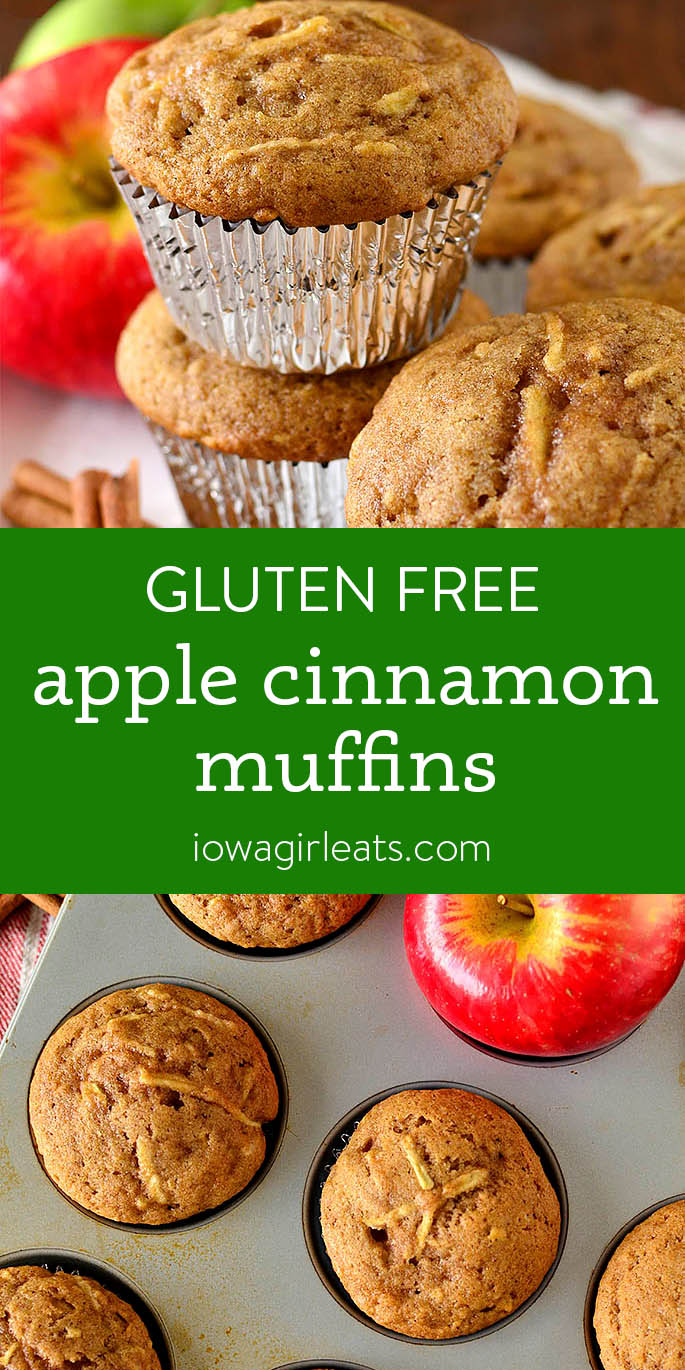 Photo collage of Apple Cinnamon Muffins
