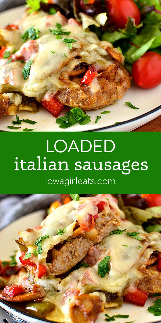 Photo collage of Loaded Italian Sausages