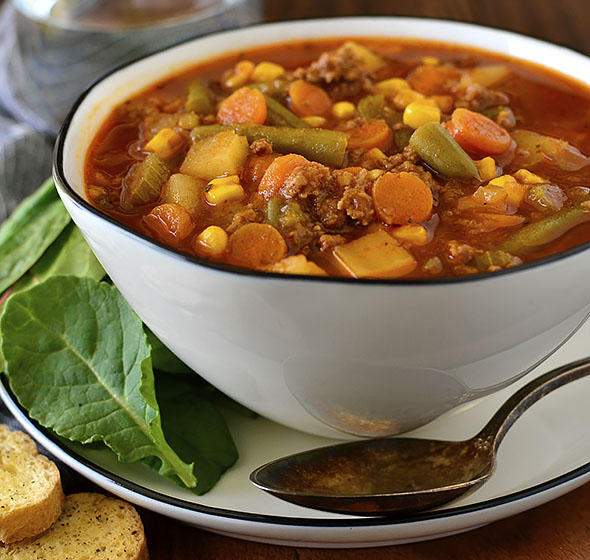 Featured image of hamburger soup
