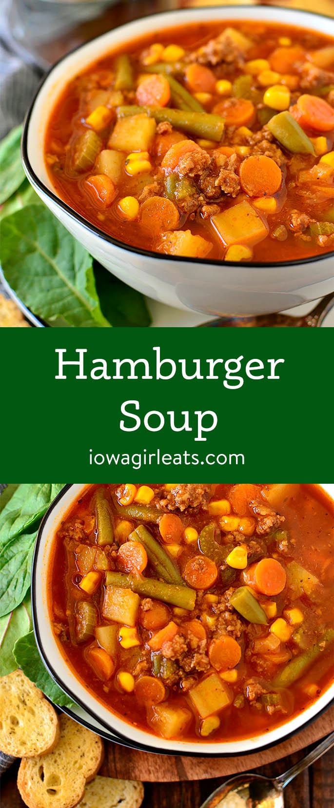 Photo collage of Hamburger Soup