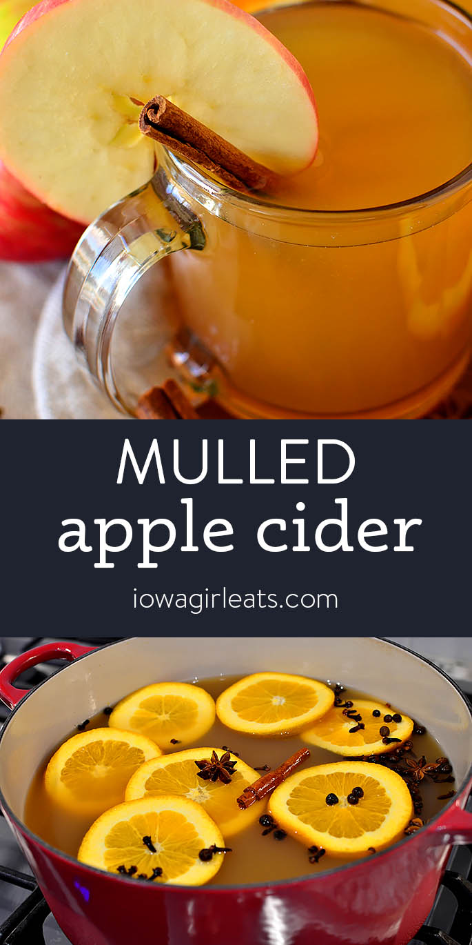 photo collage of mulled apple cider