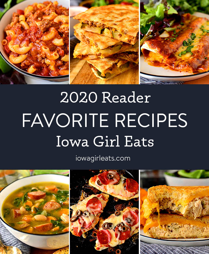 Photo collage of Top Iowa Girl Eats recipes from 2020