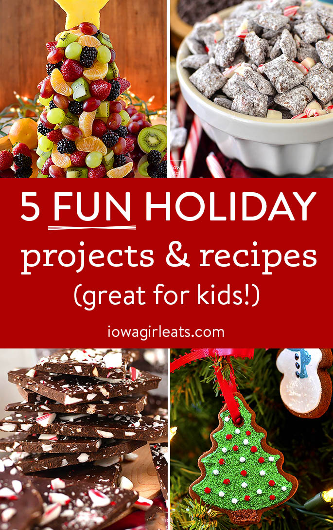 holiday recipe and projects collage
