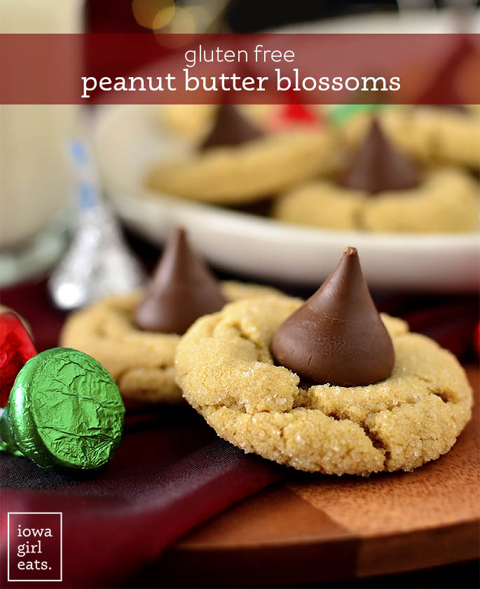Gluten Free peanut butter blossoms on a plate