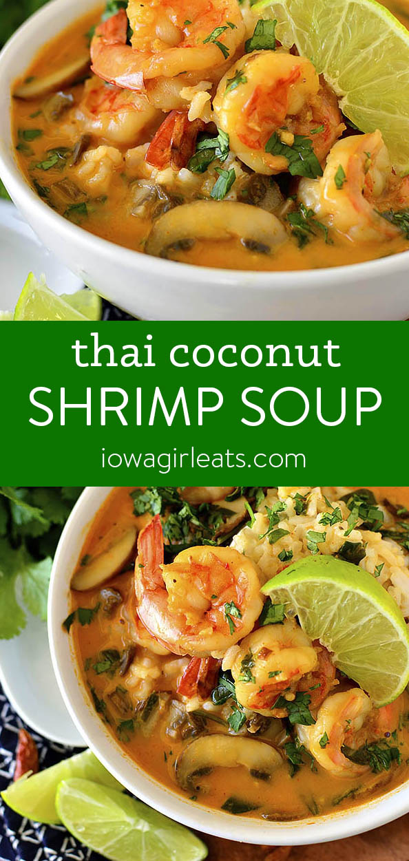 photo collage of Thai Coconut Shrimp Soup