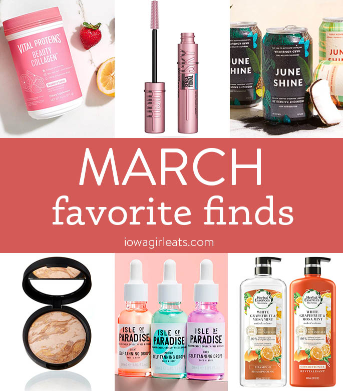 Photo collage of Iowa Girl Eats favorite March finds 2021